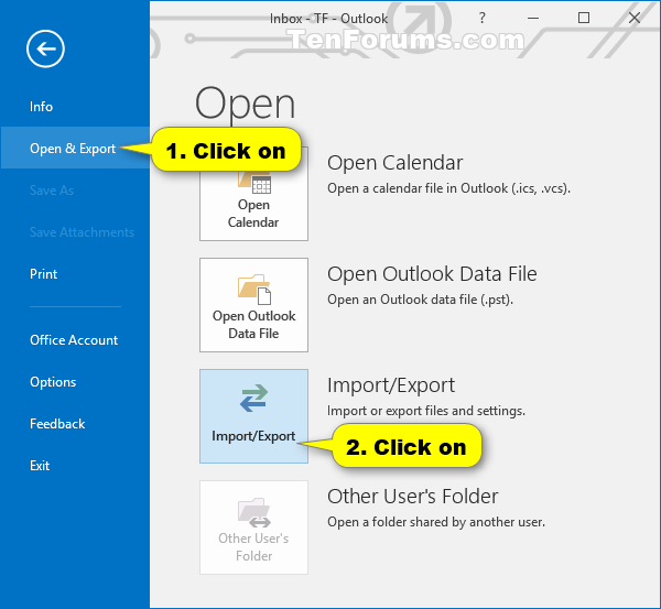 Import Outlook Email, Contacts, and Calendar from PST file