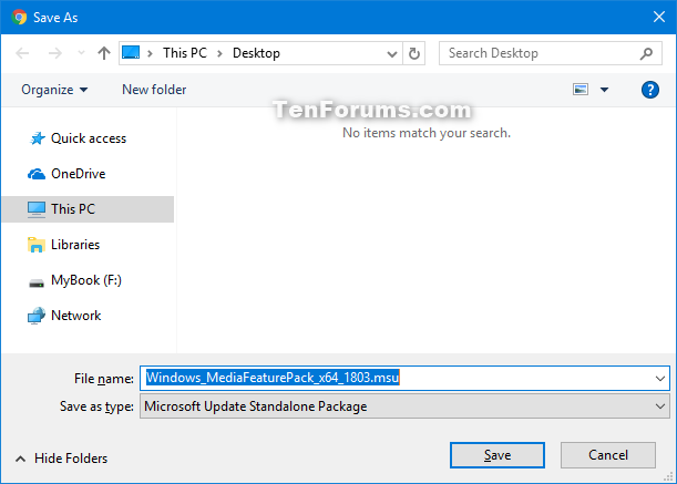 Download and Install Media Feature Pack for N Editions of Windows 10