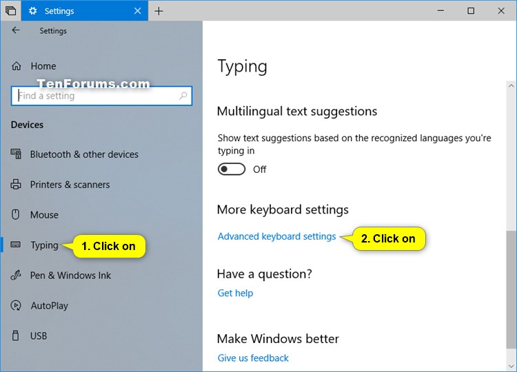 Set Default Keyboard Input Language in Windows 10 | Tutorials