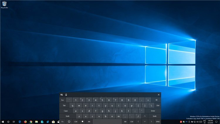 Reset Touch Keyboard Default Open Position in Windows 10