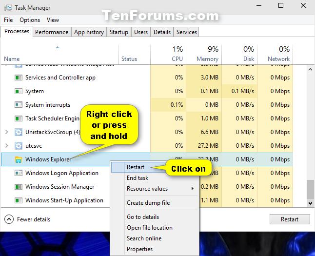 Name:  Restart_explorer_in_task_manager-2.png Views: 229630 Size:  97.8 KB