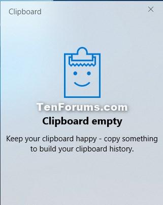 Turn On or Off Clipboard History in Windows 10-clipboard_history_empty.jpg