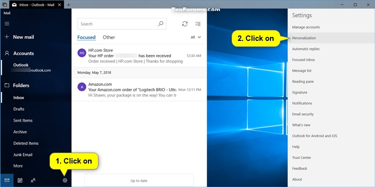 Change Folder and Message Spacing Density in Windows 10 Mail app-mail_app_folder_and_message_spacing_density-1.jpg