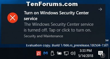 Enable or Disable Windows Security in Windows 10 | Tutorials