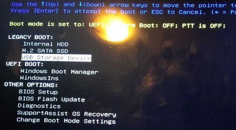 Click image for larger version.  Name:Boot options menu - after changes 2 [cropped].jpg Views:19 Size:92.7 KB ID:189087