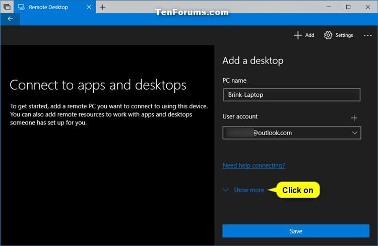 Add Remote Desktop Connection in Remote Desktop app on Windows 10 PC-add_remote_desktop_connection_in_app-5.jpg