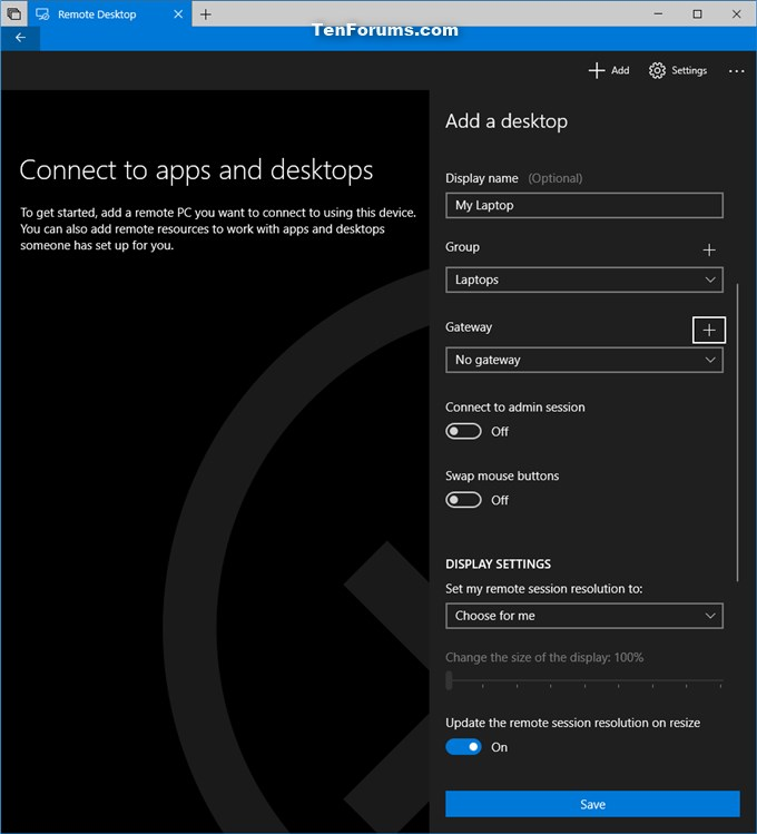 Add Remote Desktop Connection in Remote Desktop app on Windows 10 PC-add_remote_desktop_connection_in_app-6.jpg