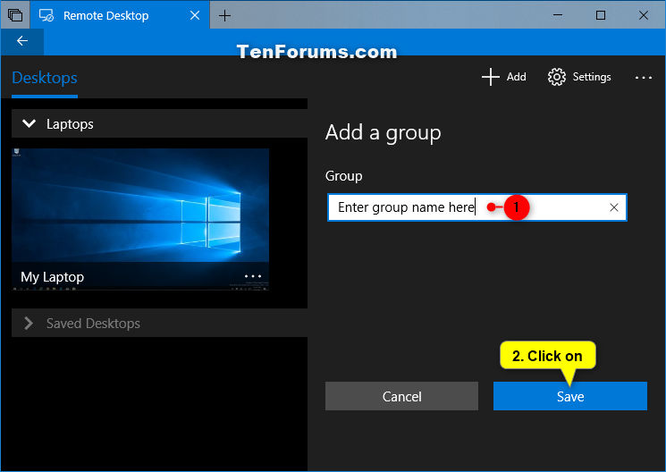 how to add remote desktop to windows 10