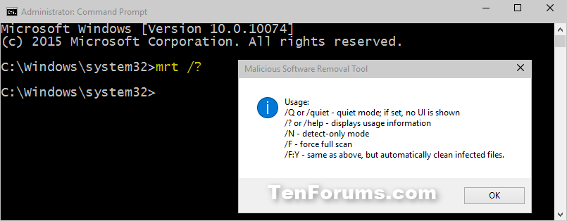 Malicious Software Removal Tool In Windows Tutorials