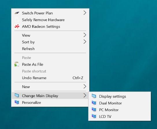 Create Display Switch shortcut in Windows 10   Tutorials