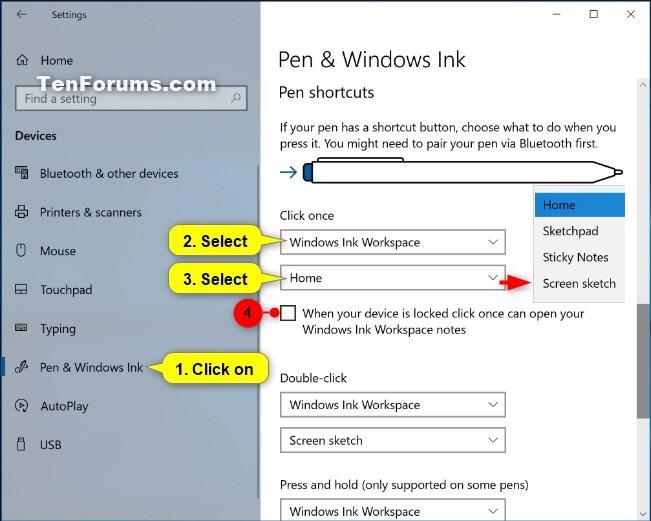 Change Pen Shortcut Button Settings in Windows 10-pen_shortcuts_click_once-3.jpg