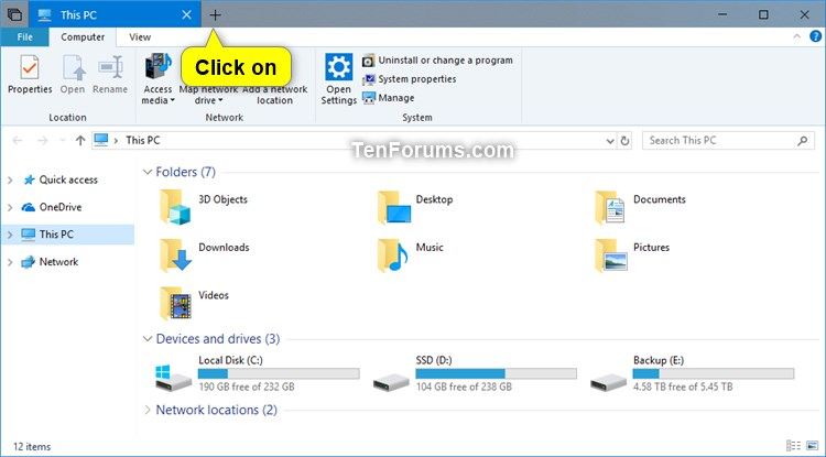 how to close a tab windows 10