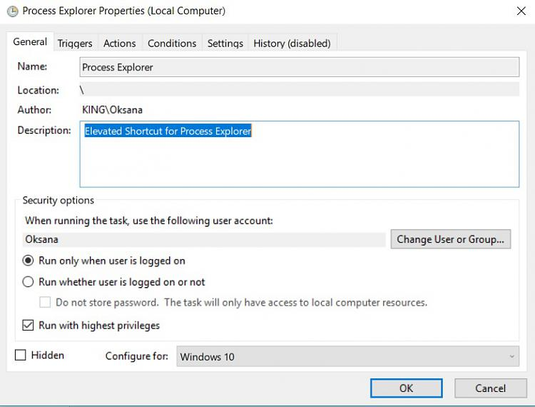 Create Elevated Shortcut without UAC prompt in Windows 10-process-explorer-01.jpg