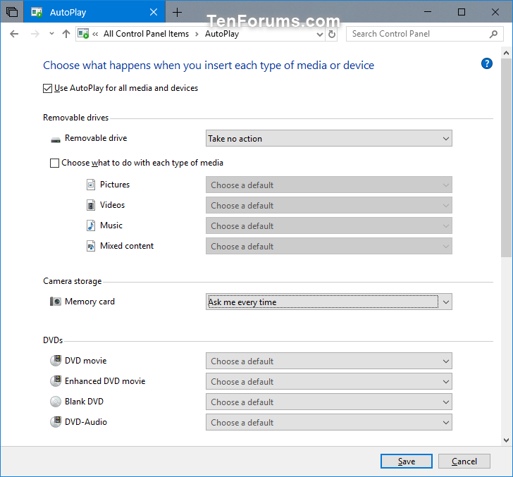 windows 10 restore settings