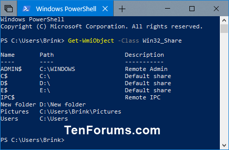 View All Network Shares on a Windows PC-get-wmiobject.png