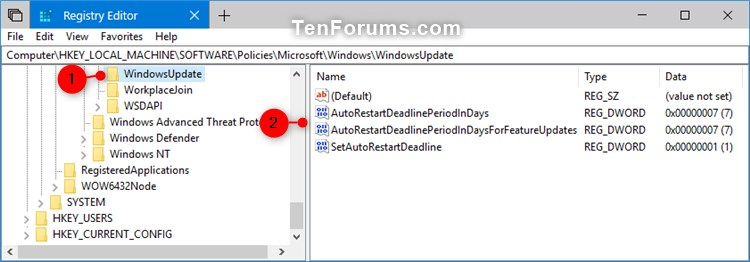 how to change the auto update win 10