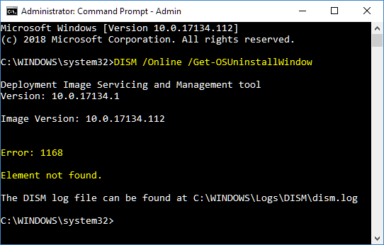 Set Number of Days can Go Back to Previous Version of Windows-dism-getosuninstallwindow-element-not-found.png