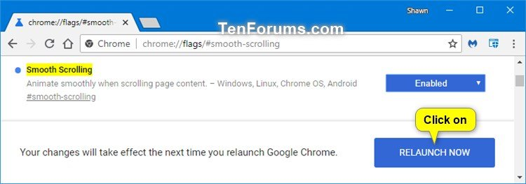 Enable or Disable Smooth Scrolling in Google Chrome | Tutorials