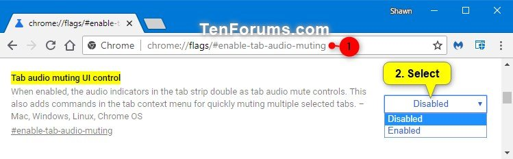 Enable or Disable Tab Audio Muting in Google Chrome | Tutorials