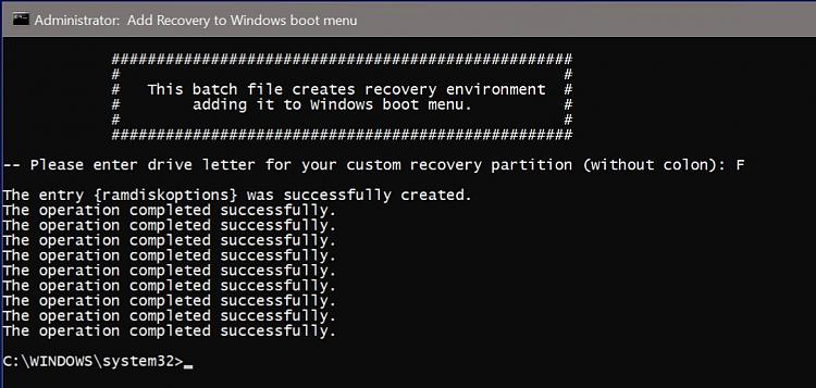 Factory recovery - Create a Custom Recovery Partition-recovery-environment-created.jpg