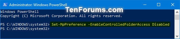 Name:  Turn_OFF_Controlled_folder_access_PowerShell.png Views: 5188 Size:  17.3 KB