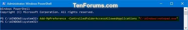 Name:  Windows_Defender_Controlled_folder_access_allowed_app_PowerShell-1.jpg Views: 1375 Size:  25.5 KB