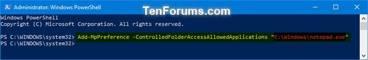Name:  Windows_Defender_Controlled_folder_access_allowed_app_PowerShell-1.jpg Views: 526 Size:  25.5 KB