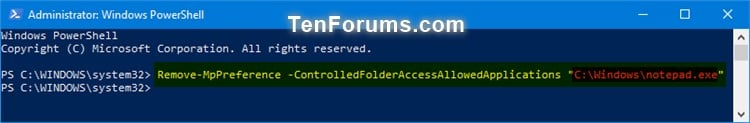 Add or Remove Allowed Apps for Controlled Folder Access in Windows 10-windows_defender_controlled_folder_access_allowed_app_powershell-2.jpg