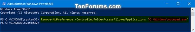 Name:  Windows_Defender_Controlled_folder_access_allowed_app_PowerShell-2.jpg Views: 2013 Size:  26.4 KB
