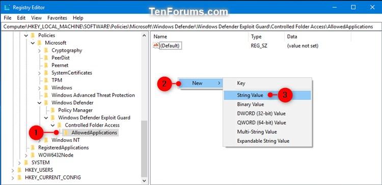 Name:  Windows_Defender_Controlled_folder_access_allowed_app_regedit-1.jpg Views: 553 Size:  55.9 KB