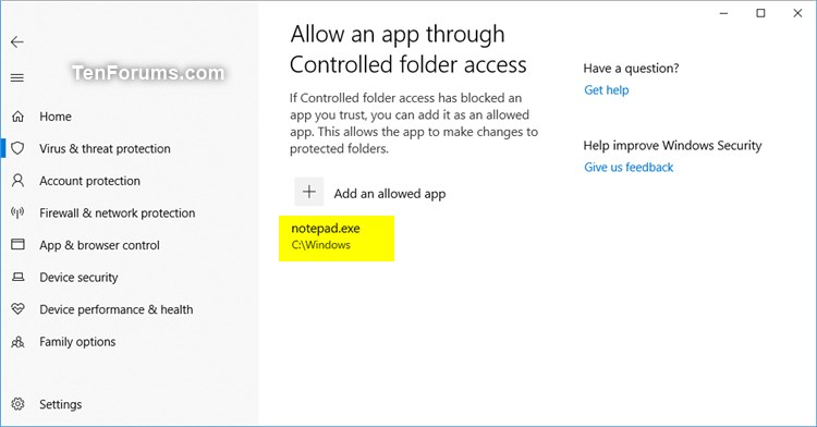 Add or Remove Allowed Apps for Controlled Folder Access in Windows 10-windows_defender_controlled_folder_access-6.jpg