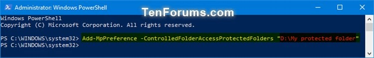 Name:  Windows_Defender_Controlled_folder_access_protected_folders_PowerShell-1.jpg Views: 1896 Size:  26.7 KB