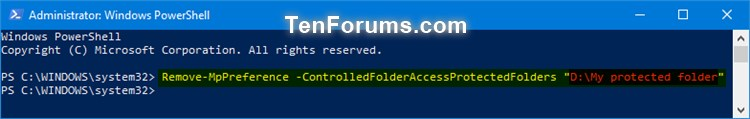 Name:  Windows_Defender_Controlled_folder_access_protected_folders_PowerShell-2.jpg Views: 9692 Size:  25.9 KB