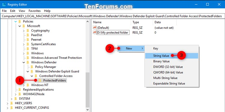 Name:  Windows_Defender_Controlled_folder_access_protected_folders_regedit-1.jpg Views: 5096 Size:  61.2 KB