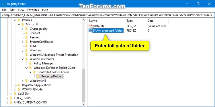 Name:  Windows_Defender_Controlled_folder_access_protected_folders_regedit-2.jpg Views: 7541 Size:  54.5 KB