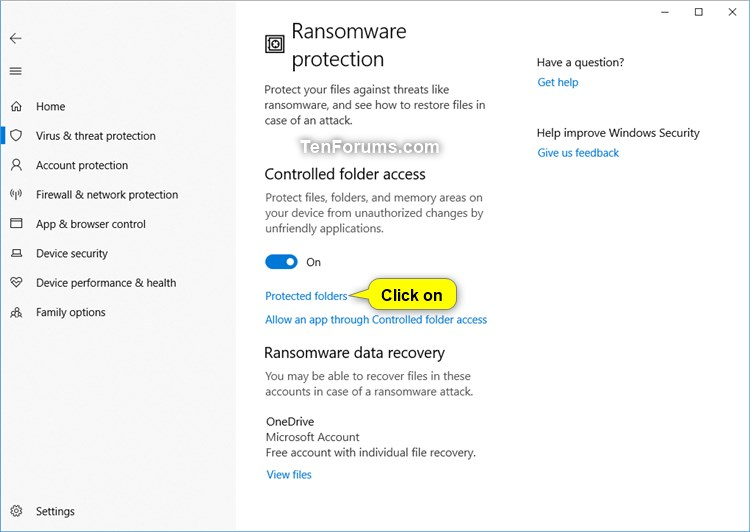 Add Protected Folders to Controlled Folder Access in Windows 10-windows_defender_controlled_folder_access-3.jpg