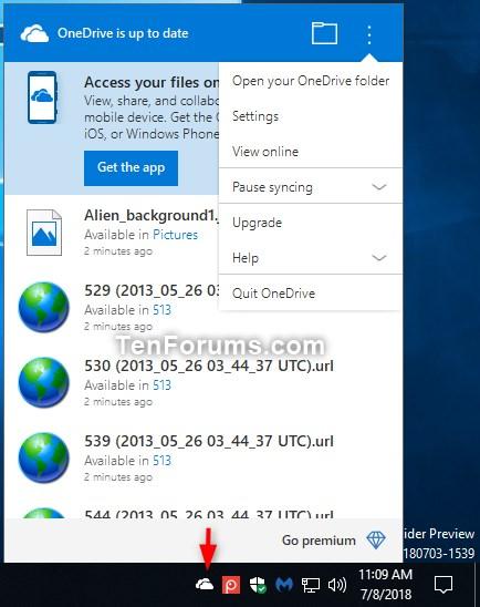 Link or Unlink OneDrive with Microsoft Account in Windows 10-onedrive_on_taskbar.jpg