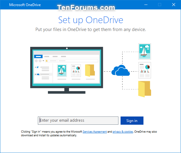 Link or Unlink OneDrive with Microsoft Account in Windows 10
