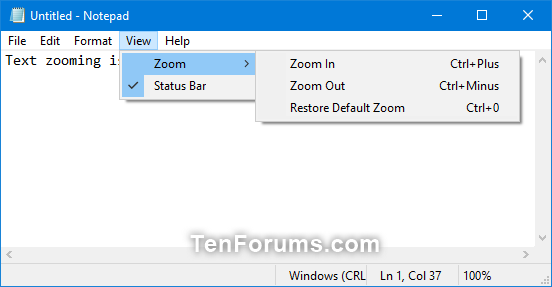 Change Zoom Level of Text in Notepad in Windows 10-text_zooming_in_notepad.png