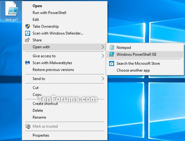 Run as administrator - Add to PS1 File Context Menu in Windows 10-open_with.jpg