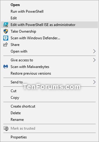 Add Edit with PowerShell ISE as administrator in Windows 10-edit_with_powershelli_ise_as_administrator_context_menu.jpg