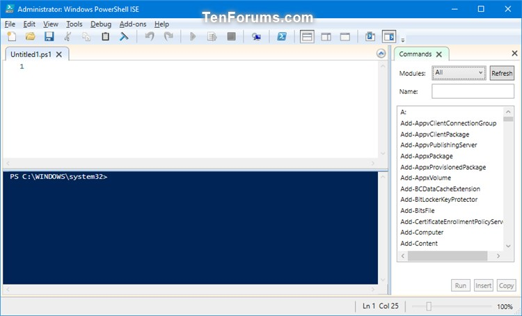 Add Edit with PowerShell ISE as administrator in Windows 10-elevated_powershell_ise.jpg