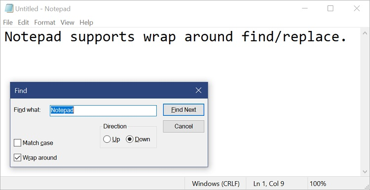 Find and Replace Text in Notepad in Windows 10-notepad_find.jpg