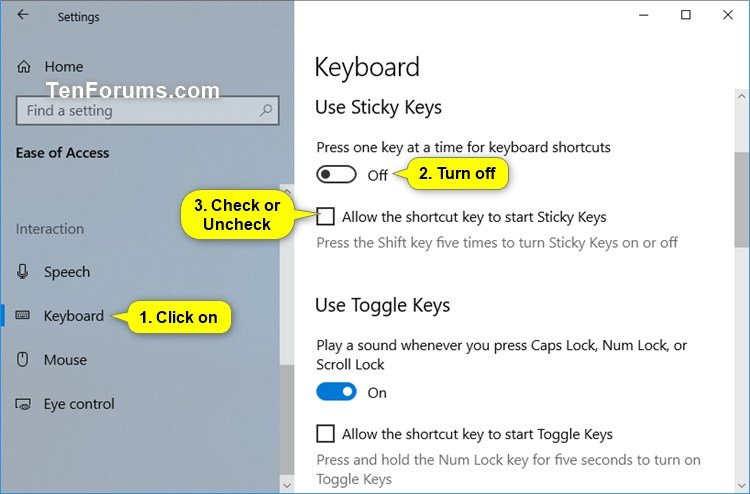 sticky keys hack windows 10