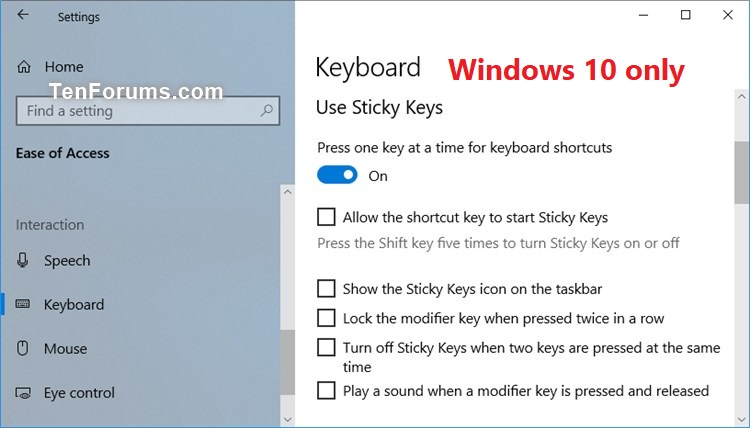windows sticky keys