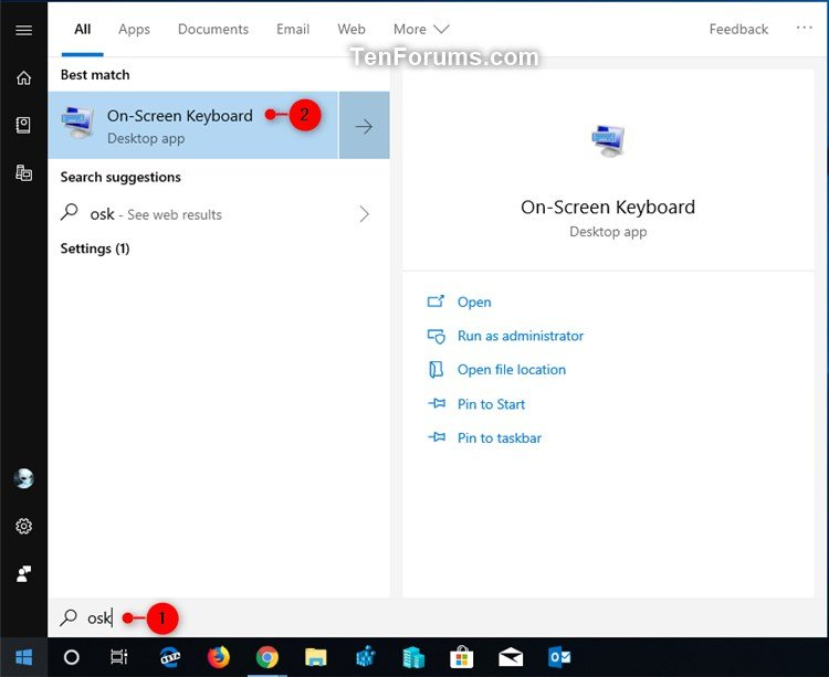 Turn On or Off On-Screen Keyboard in Windows 10 | Tutorials