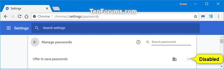 Disable Google Chrome Password Manager How to Disable Chrome