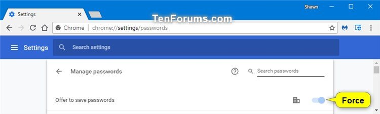 how to make google save passwords