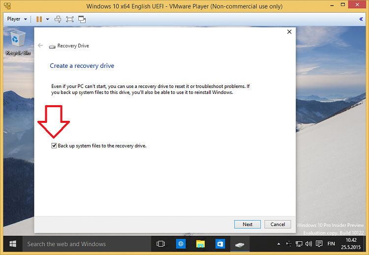 how to create a factory reset drive in windows 10