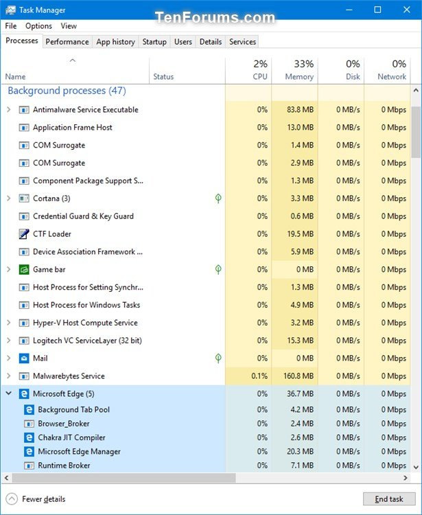 Enable or Disable Microsoft Edge Pre-launching in Windows 10 | Tutorials